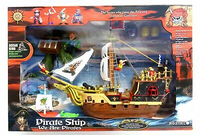 PIRATI NAVE GIOCATTOLO GRANDE PLAY SET PIRATI CON PERSONAGGI E ACCESSORI