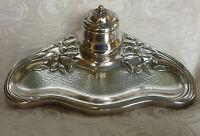 Calamaio Danese Art Nouveau Jugendstil Danish Silver Plate Sheffield Inkwell -  - ebay.it
