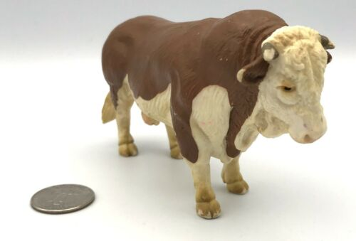 Schleich FLECKVIEH BULL Cow Dairy Farm figure Brown & White 1995 Retired