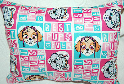NEW HANDMADE MINI PAW PATROL BEST PUPS EVER PILLOW SAME FRONT & BACK