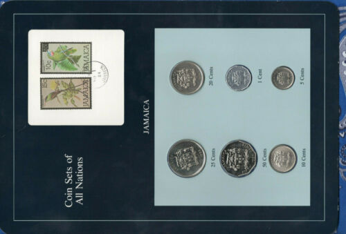 Coin Sets of All Nations Jamaica 1974-1985 UNC 25,50 cents FM(U) 20,10  FM(M)