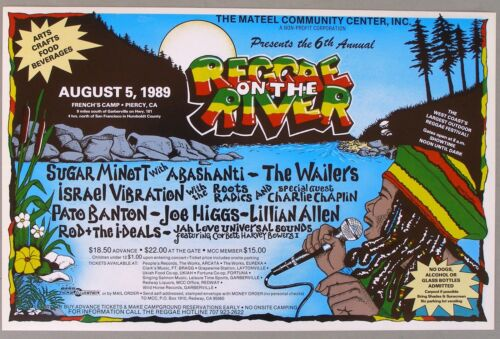 1989 6th Annual REGGAE ON THE RIVER Concert Poster