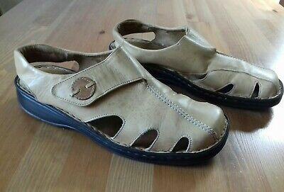 JOSEF SEIBEL EU40 UK6.5 Slip On Slingback  Sandals High Quality Leather Beige