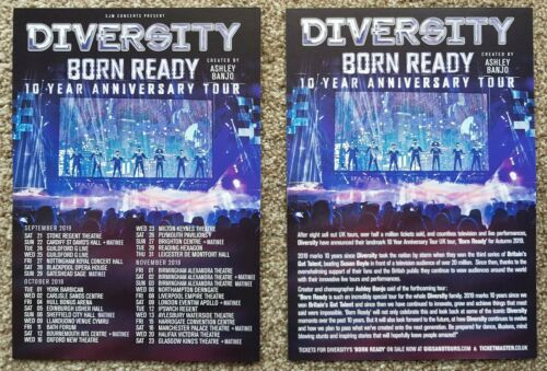 2 Flyers - Diversity - Born Ready - 10 year Anniversary tour 2019 -
