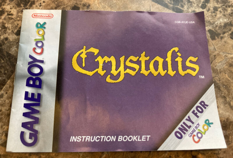 Nintendo GameBoy Color Crystalis Instruction Manual Booklet Only