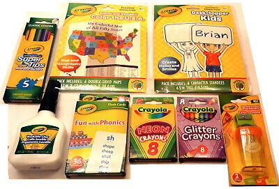 Crayola Creative Classroom color the USA, 8 items Pacakge  - Classroom Items