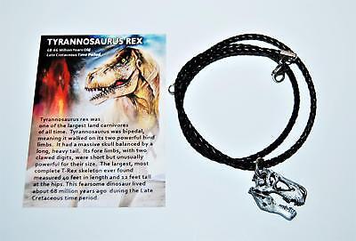 "Tyrannosaurus Rex T-Rex Dinosaur Skull Necklace Fossil Replica 1"" size (S) #884 for sale  Salem"