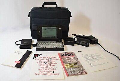Vintage Zeos Contenda 1991 SubNotebook 008-0025 Intel 386SL 25Mhz CPU 2MB RAM