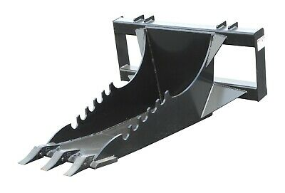 Extreme Skid Steer Stumptrench Tooth Bucket - 1 Cutting Edge-12 Steel Plate