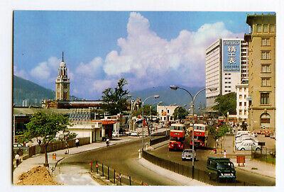 Postcard Street Scene Near Star Ferry Hong Kong Continental View Card, usado segunda mano  Embacar hacia Mexico