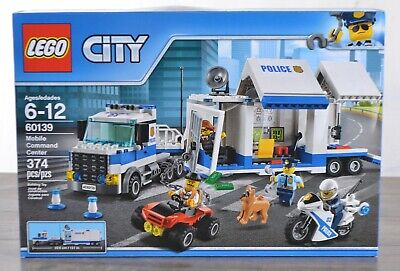 NEW LEGO CITY 60139 Mobile Command Center 374 Piece Building Toy Set Ages 6-12