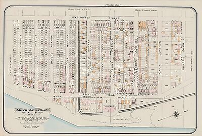 MONTREAL COPY PLAT ATLAS MAP LUC ROAD GOAD CHARLES E CANADA COTE ST 1913