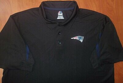 Majestic NFL New England Patriots Football Cool Base Golf Polo Shirt 2XL ~NEW~