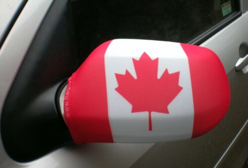 CAR WING MIRROR SOCKS FLAGS, COVERS, FLAG-UPS! - CANADA  CANADIAN