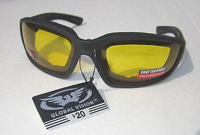 Yellow Horseback Motorcycle Riding Biker ATV Quad Glasses Sunglasses (Horseback Riding Sunglasses)