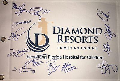 DIAMOND RESORTS INVITATIONAL SIGNED GOLF FLAG 13 SIGNATURES *READ