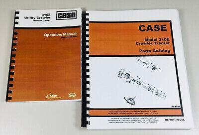 Case 310e Utility Crawler Tractor Parts Catalog Operators Owners Manual Set