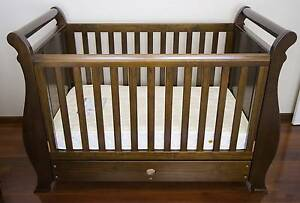 Boori Sleigh Cot -EXCELLENT CONDITION + Love n Care $190 Mattress Stirling Stirling Area Preview