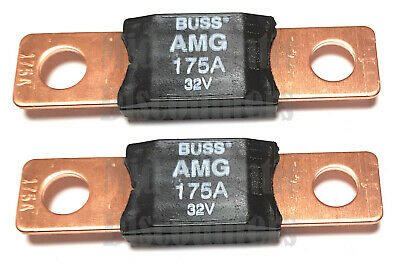 2 Cooper Bussman Buss 175a Amp Amg Mega Fuse Amg-175