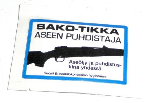 Rare vintage unused original Sako Tikka gun oil cleaning patch tikkakoski