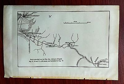 1898 Sketch Map Puerto Rico Route Gen. Schwan's Brigade Spanish American War