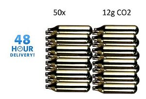 50 x MOSA 12g Co2 Gas Capsule Cartridge Air Rifle Pistol Gun Airgun 12 Gram
