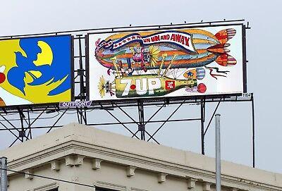 "1970 21x10' 7Up UnCola ""Un Un & Away"" Bob Taylor vintage billboard poster sign"