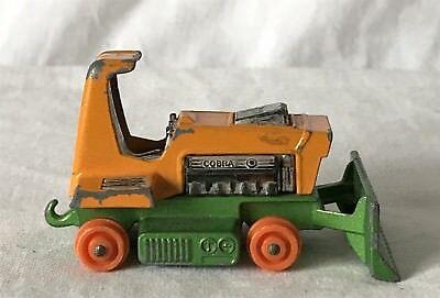 1976 Matchbox No. 2 Big Bull Bulldozer Toy Car - No tyres