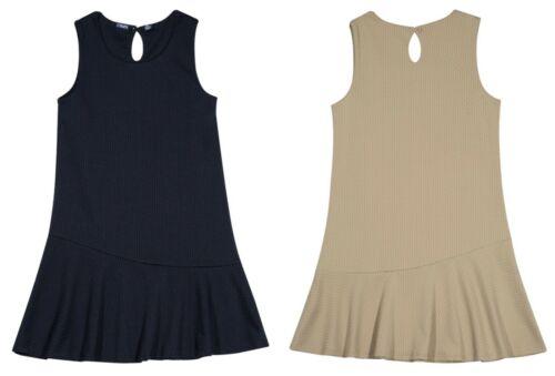 Chaps Asymmetrical School Uniform Jumper Dress Navy Khaki Girls Size 6 6X