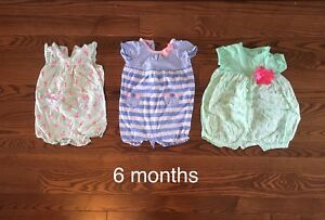 6 month summer girl clothes
