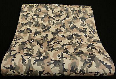 05235-20-519) moderne Papier Tapete Camouflage braun beige oliv