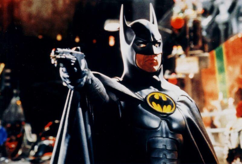 Michael Keaton As Batman With Gun  8x10 Photo Print