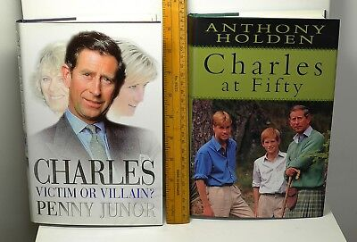Two books about Prince Charles and Princess Diana (Penny Juno & Anthony Holden