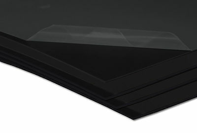 Kunststoffplatte Hart PVC Platte Kunststoff 2000 x 1000 x 1 mm schwarz