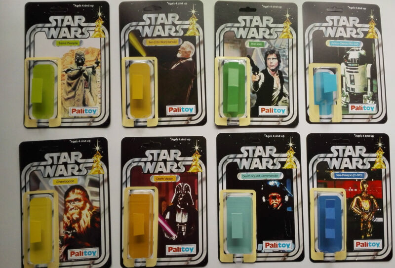 FIRST 21  PALITOY VINTAGE STAR WARS RESTORATION KITS WITH SELF ADHESIVE BLISTERS