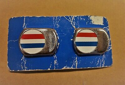 French Flag Toe Clip Strap Buttons L/'Eroica Retro Vintage Bicycle