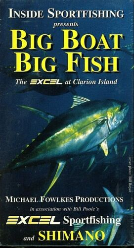 Big Boat, Big Fish! the Excel at Clarion Island! VHS Color NEW Sealed. BIN!