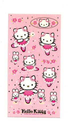 Sanrio Hello Kitty Ballerina Dancer Sticker Sheet stickers kawaii Japan 2001