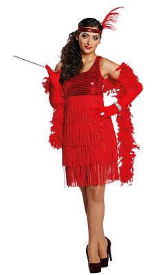 Flapper Kleid Red Lady Damenkostüm NEU - Damen Karneval Fasching Verkleidung Kos