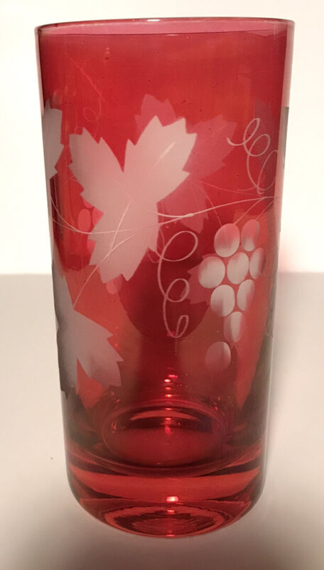 Vintage Cranberry Federal drinking glasses