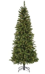 Pre- Lit Slim Christmas Tree 7 Feet, Ideal for Small spaces