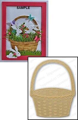 Impression Obsession BASKET DIE DIE039-T New Easter Craft - Easter Basket Craft