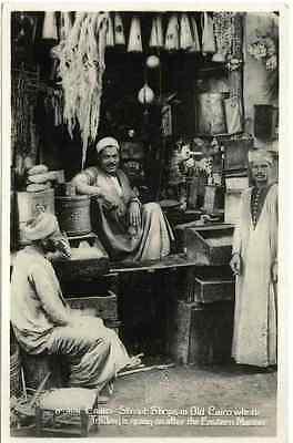 CAIRO - BAZAR & LEBENSMITTEL LADEN 1935 - 2 OriginalFotografien Silbergelatin