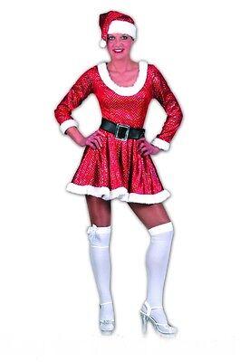 sexy Weihnachtsfrau Miss Santa Damen Kostüm Nikoläusin  Nikolaus Frau (Damen Miss Santa Kostüme)
