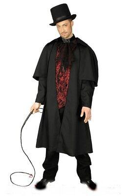 Dracula Ripper  edler Graf Herren Kostüm Mantel mit Hemd u. Jabot Halloween