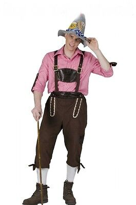 Trachten Hose Tiroler Hose Oktoberfest Herren Kostüm Wildleder Optik - Herr Oktoberfest Kostüm