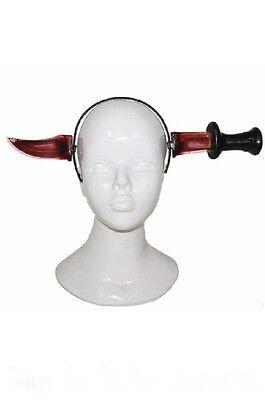 Messer durch Kopf Haarreif für Halloween  Kostüm Horror Grusel Karneval