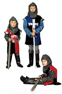 Ritter Kostüm  für Jungen Kinder Mittelalter Larp m. Stiefelstulpen NEU