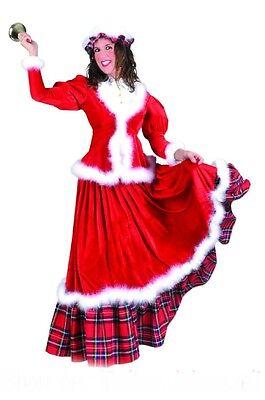 Weihnachtsfrau Kleid historisches Kostüm amerikanischer Stil Weihnachten  -