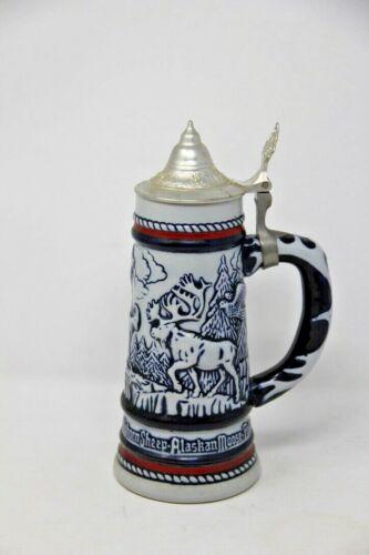 Avon 1976 Beer Stein Goat, Condor, Eagle,  Moose,  Falcon Bighorn Sheep Vintage